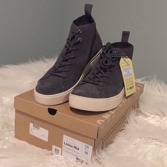 Toms Shoes   Toms Mens Suede High Top